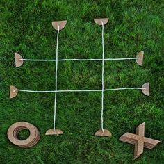 Take the classic game of tic-tac-toe outside with this oversized rendition. Take the classic game of tic-tac-toe outside with this oversized rendition. Diy Yard Games, Lawn Games, Diy Games, Backyard Games, Backyard Beach, Wedding Backyard, Garden Wedding, Backyard Kids, Wedding Yard Games