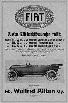 Fiat- mainos 1920