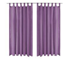 vidaXL Draperii micro-satin cu bride, 2 buc, 140 x 245 cm, violet Satin, Curtains, Shower, Bride, Design, Home Decor, Rain Shower Heads, Wedding Bride, Blinds