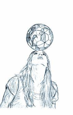 Trendy sport soccer football ideas - Source by limaradtke Soccer Art, Girls Soccer, Football Soccer, Football Girls, Play Soccer, Sports Drawings, Cool Art Drawings, Art Sketches, Football Drawings