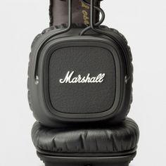 marshall earphones, major pitch black $120