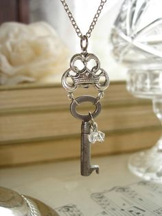 The QUEEN Of EVERYTHING  Antique Skeleton Key by PreciousPastimes, $32.50