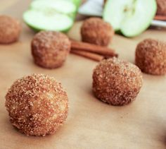 I made these apple cinnamon baked doughnut holes. The recipe was moist and are good with or without the cinnamon sugar topping. Baked Doughnut Holes, Apple Doughnut, Baked Doughnuts, Donuts, Donut Holes, Babycakes Recipes, Babycakes Cake Pop Maker, Donut Recipes, Delicious Desserts