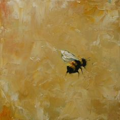 Print Bee18 10x10inch Print from original oil painting by RozArt