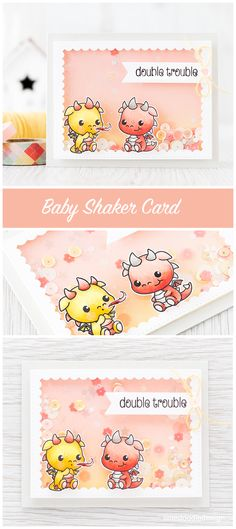 Baby shaker card. Find out more by clicking on the following link: http://limedoodledesign.com/2016/03/baby-shaker-card/
