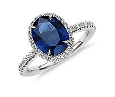 Colored gemstone engagement rings are growing in popularity among brides-to-be. Learn about your options and see some wonderful photos of colored gemstone engagement rings. Sapphire Jewelry, Blue Sapphire Rings, Blue Rings, Sapphire Birthstone, Unusual Engagement Rings, Gemstone Engagement Rings, Gemstone Rings, Solitaire Engagement, Diamond Rings