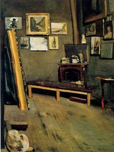 Studio of the Rue Visconti (Jean Frederic Bazille - 1867)