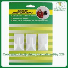 Permanent Plastic Adhesive Hook HS01P #adhesivehook  http://www.gzprodigy.com/product-category/hook/adhesivehook/