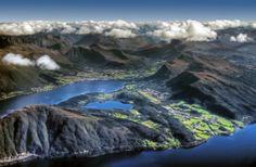 27 razões para você voar na janelinha! norwwegian coast from an airplane aerial from above 640x418