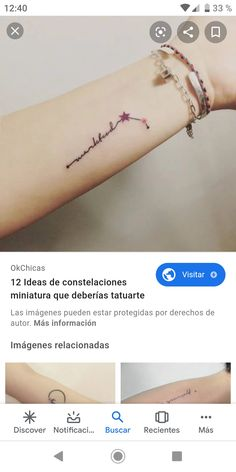 Tattoos, Constellations, Miniatures, Tatuajes, Tattoo, Tattos, Tattoo Designs