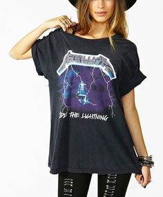 Vintage 80s 90s AUTH Metallica Ride the Lightning Album Oversize ...