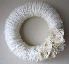 Yarn Wreath Handmade Felt Decoration12 inch by jspooner08 on Etsy, $17.00