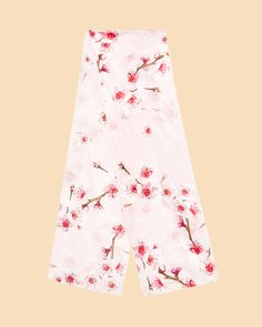 Soft Blossom skinny silk scarf - Light Pink | Accessories | Ted Baker UK