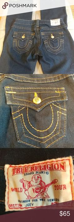 "TRUE RELIGION Joey jeans TRUE RELIGION Joey jeans  Like New. Wore once. Super dark blue.  Sz 26 inseam 30"" True Religion Jeans"