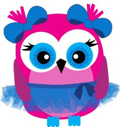 Baby Girl Clip Art Hearts | Cute owl balerina free clip art. Best for kids digital products.