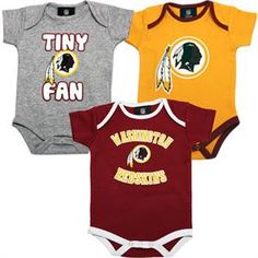Redskins 3 Pack Baby Body Suits $29.95