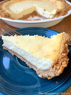 Easy Cheesecake 5 Ingredients made in Pie Plate