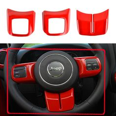 Opar Red 2007 - 2016 Jeep Wrangler Steering Wheel Trim - Set I wonder if this comes in the blue color I'm going to get