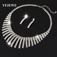 YFJE Women's Jewelry mystic Simulated Silver plated Pendant Angel Jewelry Sets Womens Artificial Necklace earring Set N159