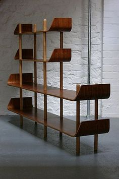 Plywood Bookcase by Wilhelm Lutjens (Midcentury Modern) Mcm Furniture, Furniture Design, Furniture Ideas, Furniture Stores, Furniture Makeover, Danish Furniture, Farmhouse Furniture, Furniture Layout, Plywood Furniture