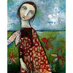 Sarah Wyman-Wood Mount Print - Folk Art - Adrift