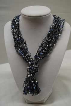 Knotted Trellis Yarn Necklace