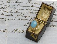 Jane Austen's ring that has been auctioned. Jane Austen'in müzayedede satılan yüzüğü