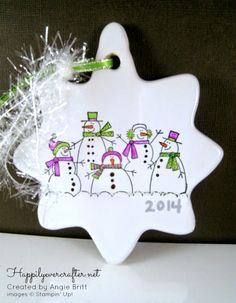 Happily Ever Crafter: Snowmen Ornament; Craft Shows 2014