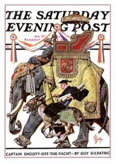 Saturday Evening Post - 1936-10-17: Political Party Symbols (J.C. Leyendecker)