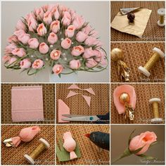 DIY Beautiful Chocolate and Crepe Paper Flower Bouquet
