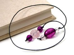 Book Thong Beaded Bookmark Book Cord Book String by TJBdesigns, $4.00