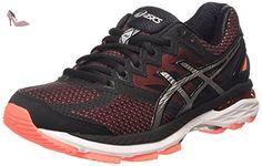 ASICS Gt-2000 4, Chaussures de Running Compétition femme - Rose (flash Coral/black/silver 0690), 35.5 EU - Chaussures asics (*Partner-Link)