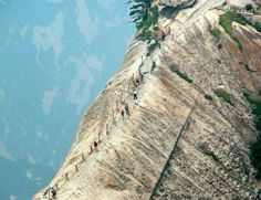 This mountain path inChina isthe world's most dangerous hiking trail