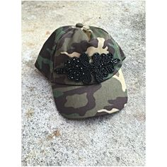 Child's/toddler camo hat with beaded embellishment Custom Made Hats, Camo Hats, Embellishments, Children, Etsy, Young Children, Ornaments, Boys, Kids