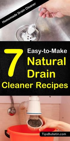 7 awesome natural drain cleaner images cleaning cleaning hacks rh pinterest com
