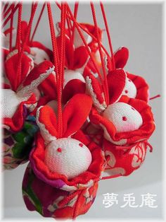Japanese Art, Bunny, Arts And Crafts, Easter, Embroidery, Christmas Ornaments, Holiday Decor, Yahoo, Fabric