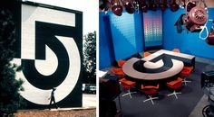Lance Wyman WCVB branding and signage 1972 (with Bill Cannan)