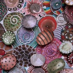 obra original abstracta acuarela y rotuladores por bicocacolors