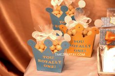 Royal prince 1st birthday party favors! See more party planning ideas at CatchMyParty.com!