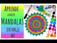 Aprende a hacer Mandalas conmigo! ❤️ Zentangle Art - YouTube