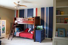 Fantastic striped walls!