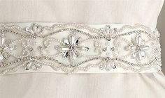 Rhinestone Bridal Sash | eBay