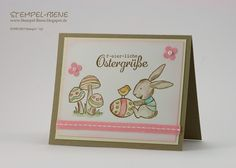 Osterkarte; Hasenparade