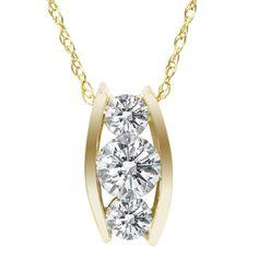 Three stone drop diamond pendant in 14k white gold 13 ct tw also trending on pinterest aloadofball Choice Image