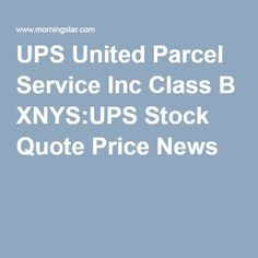 Ups Stock Quote Awesome Ups Airbus A330 Cargo Plane  Freighter  Ups  United Parcel