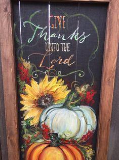 Fall Canvas Painting, Autumn Painting, Autumn Art, Painting On Wood, Fall Paintings, Pumpkin Painting, Tole Painting, Awesome Paintings, Rooster Painting