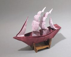 Origami Full-rigged Ship by Patricia Crawford folded by Gilad Aharoni