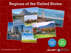 SmartBoard Lesson: Regions of the United States (Standard Format)