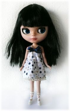 Blythe Doll Stars Dress by LeFayCustom on Etsy AWWW! It's ME!!  lol