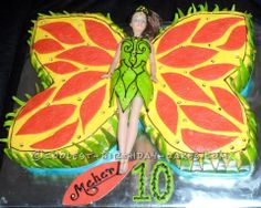 Coolest Butterfly Princess Birthday Cake... This website is the Pinterest of birthday cake ideas